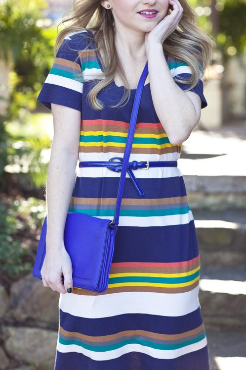 Poor Little It Girl in Anthropologie Dress, J.Crew Bag and Urban Outfitters Fedora