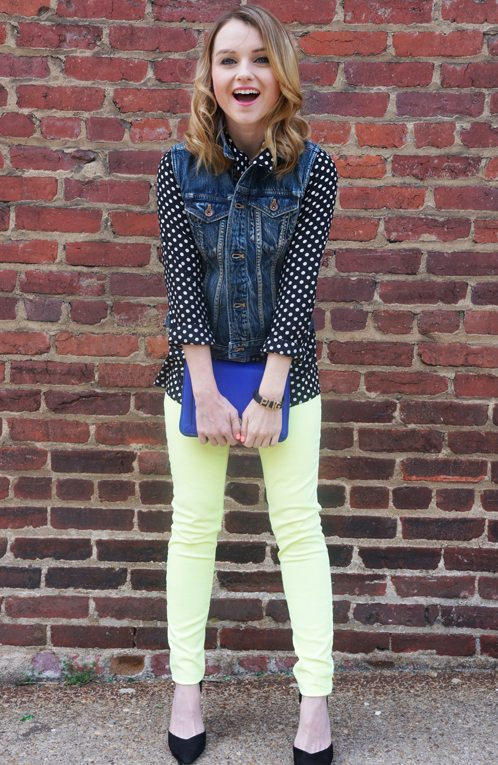 How To Style Neon Denim - Poor Little It Girl