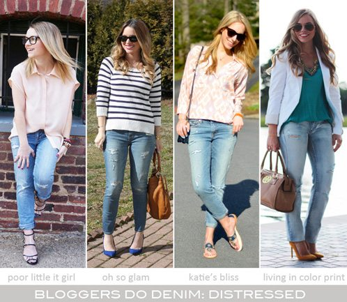 Bloggers Do Denim-Distressed
