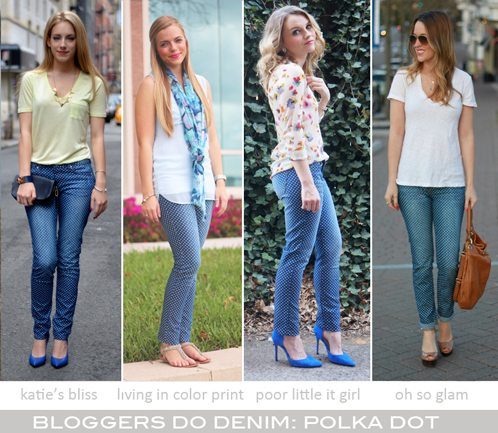 Bloggers Do Denim-Polka Dot