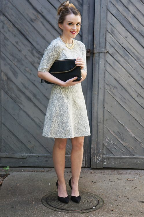Poor Little It Girl in Warehouse Dress, Clutch and Belt - Giveaway!