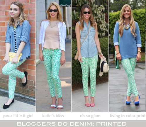 Bloggers Do Denim-Printed