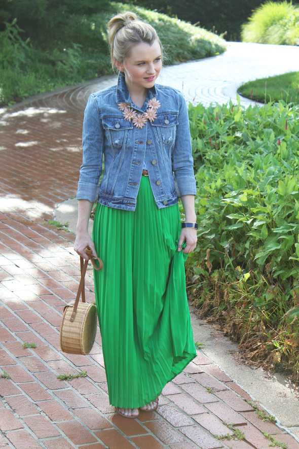 Poor Little It Girl in PopBasic Skirt, Paige Denim  Jacket, Madewell Sandals and C.Wonder Bangle