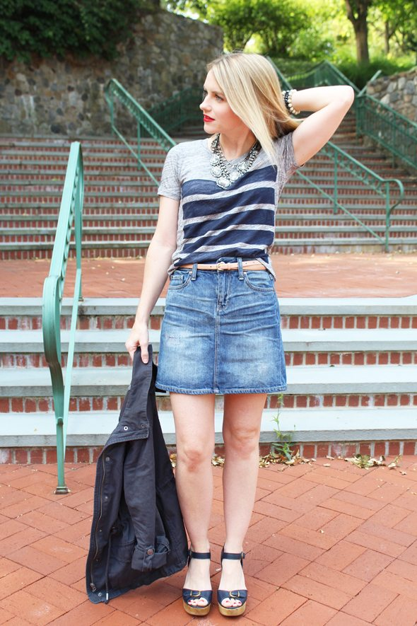 Gap Denim Skirt Under $100 - Poor Little It Girl