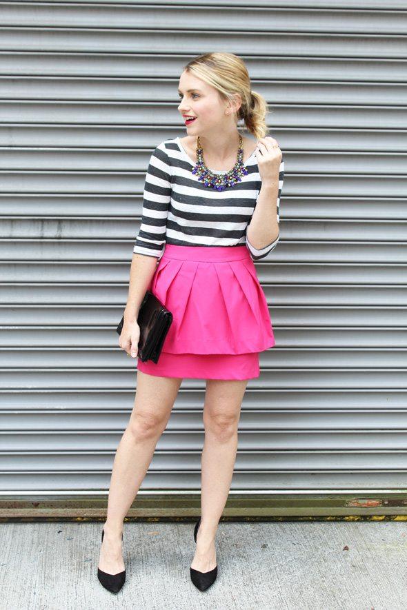 Pink Peplum Mini Skirt Poor Little It Girl