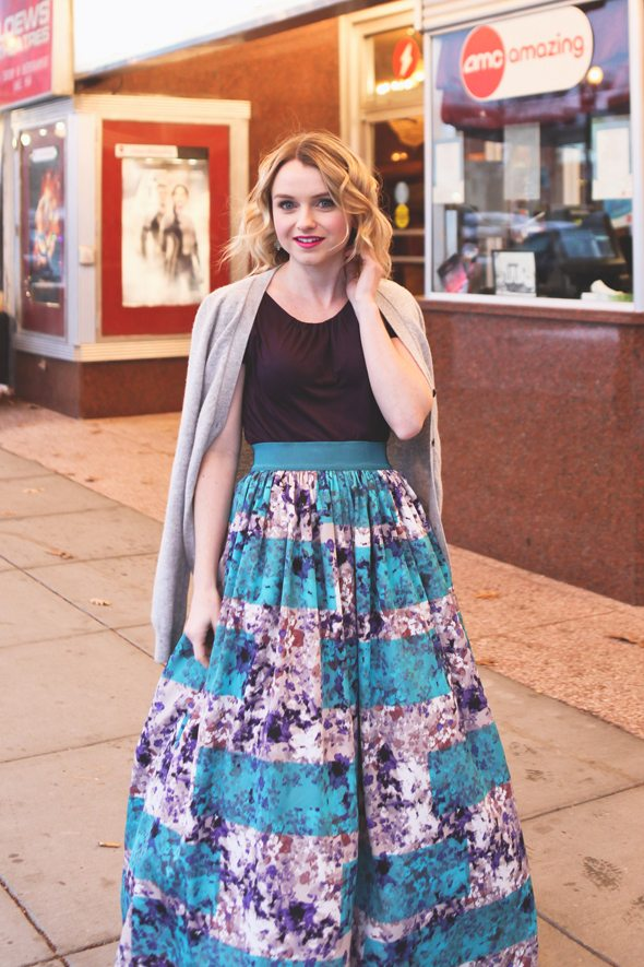 Poor Little It Girl in Anthropologie Ball Skirt  - Hannah Colclazier Photography