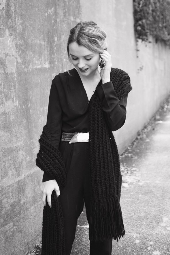Hannah Colclazier Photography - Poor Little It Girl in Missguided Black Jumpsuit