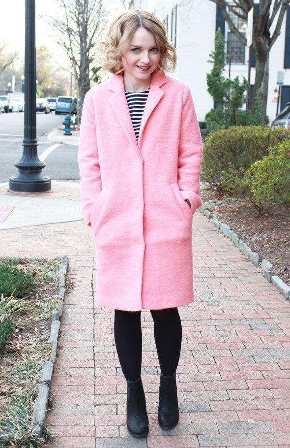 Topshop Pink Coat - Poor Little It Girl