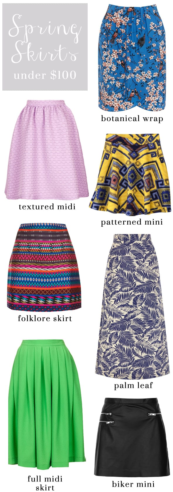 Poor Little It Girl - Springtime Skirts Under $100