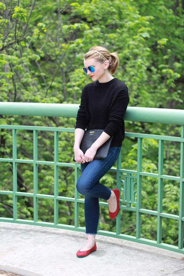how to wear red flat shoes - photo #14