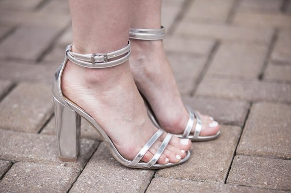 Poor Little It Girl - ASOS Embellished Trapeze Dress and Silver Metallic Heels - Southern Blog Society Conference