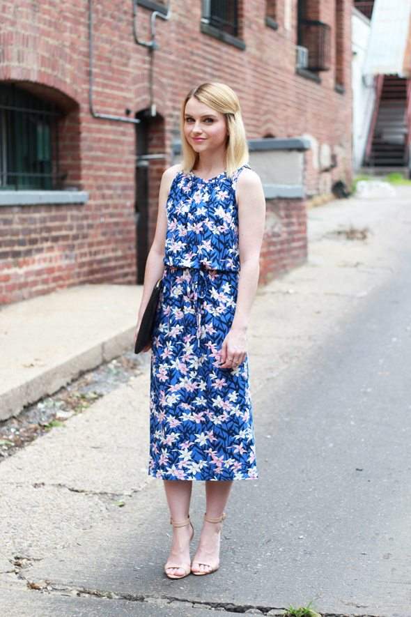 Poor Little It Girl - OASIS Lily Print Midi Dress #SummerStyle