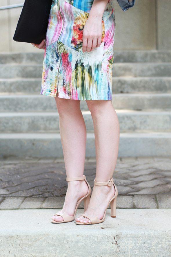 Poor Little It Girl - Nicole Miller Artelier Flower Denim Dress and Paige Denim Jacket