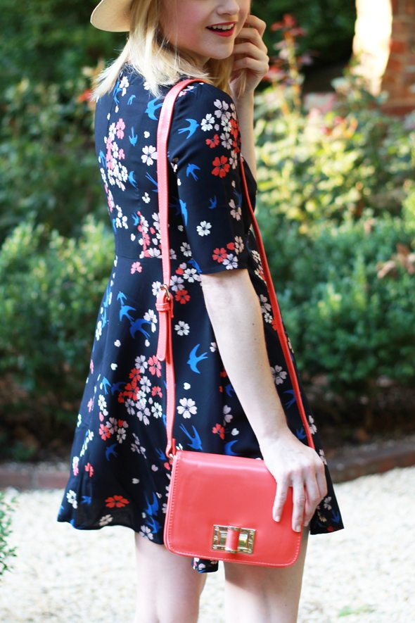 Poor Little It Girl - ASOS Floral & Bird Print Dress