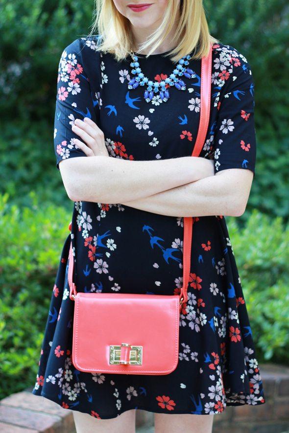 Poor Little It Girl - ASOS Floral & Bird Print Dress