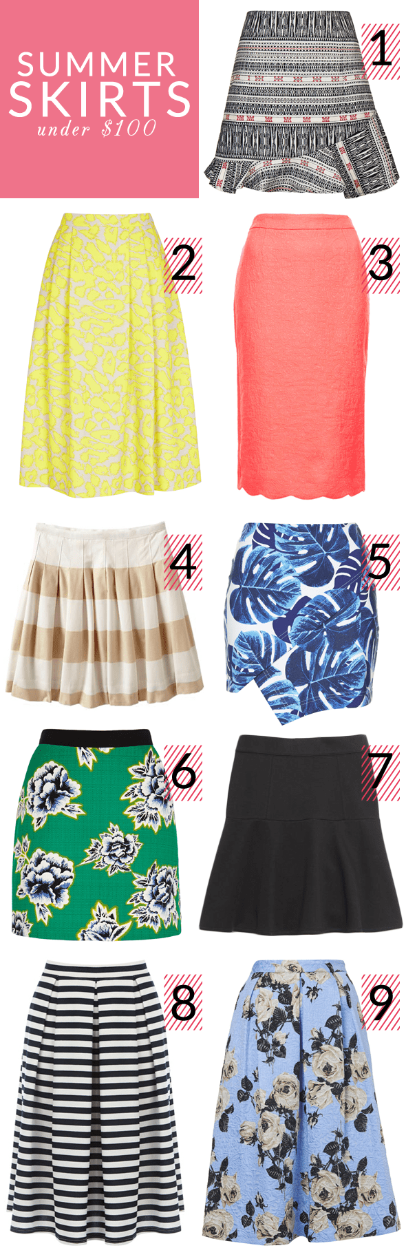 Poor Little It Girl - Summer Skirts Under $100