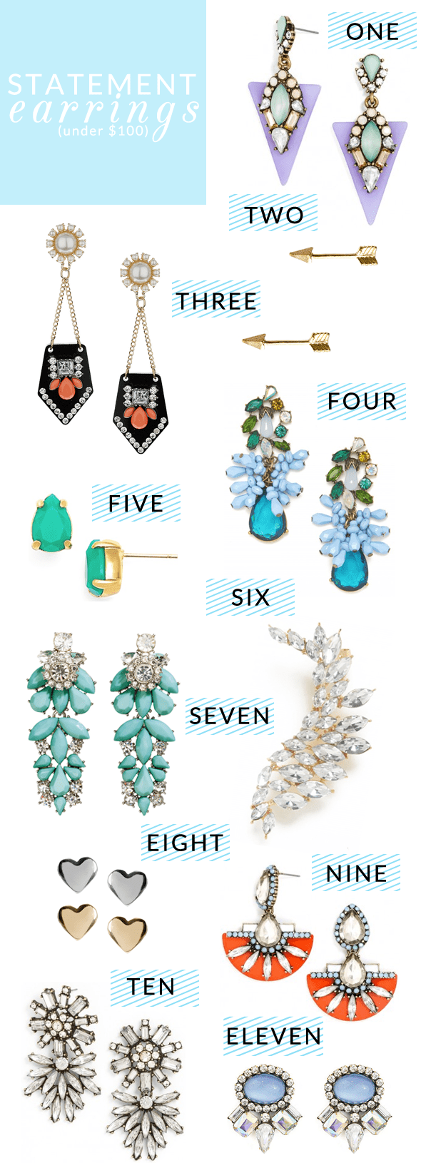 Poor Little It Girl - Statement Earrings Under $100