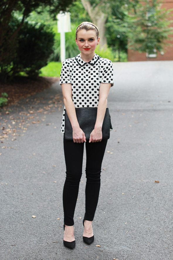 Poor Little It Girl - Kate Spade Black and White Apple Print Top with #NordstromRack