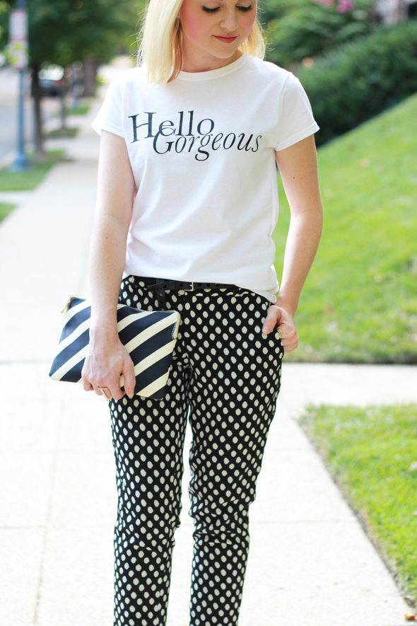 """Poor Little It Girl - T+J Designs """"Hello Gorgeous"""" T-shirt and Winged Ear Cuff"""