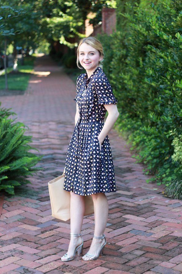 Poor Little It Girl - J.Crew Heart Dot Dress