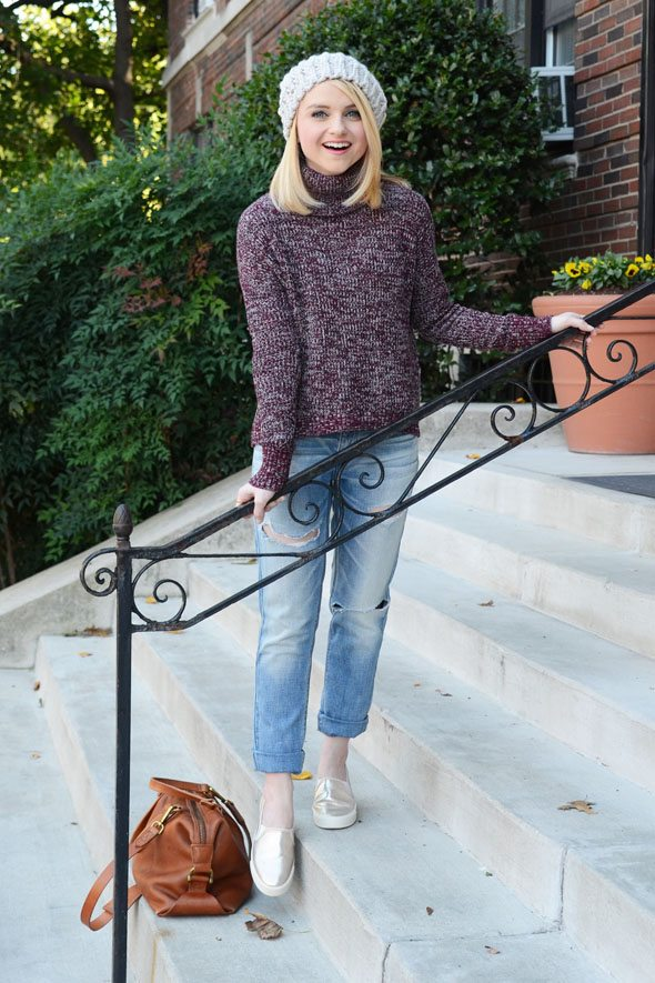 Poor Little It Girl - American Eagle Outfitters Knits and Boyfriend Jeans for fall!