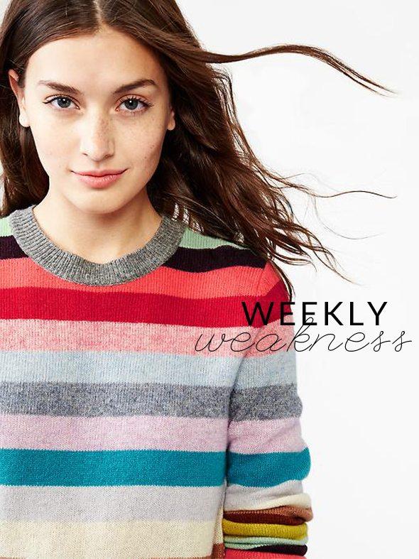 Weekly Weakness - GAP Holiday Stripe Sweater