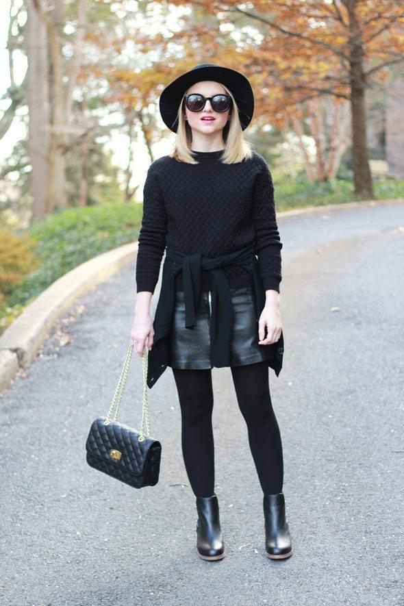 Poor Little It Girl - Head To Toe Black For Winter