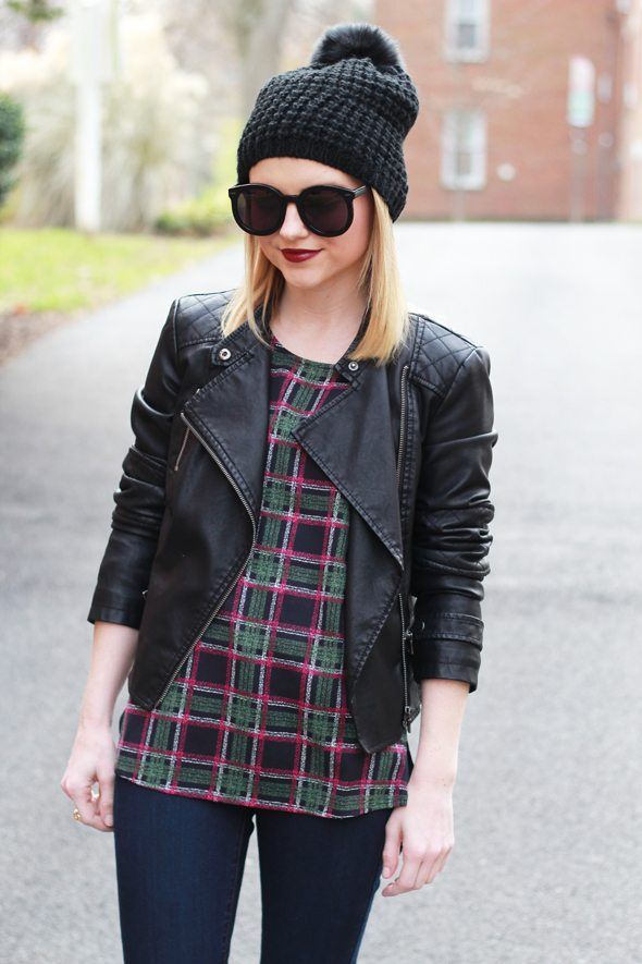 Poor Little It Girl - Faux Leather Jacket and Skinny Jeans