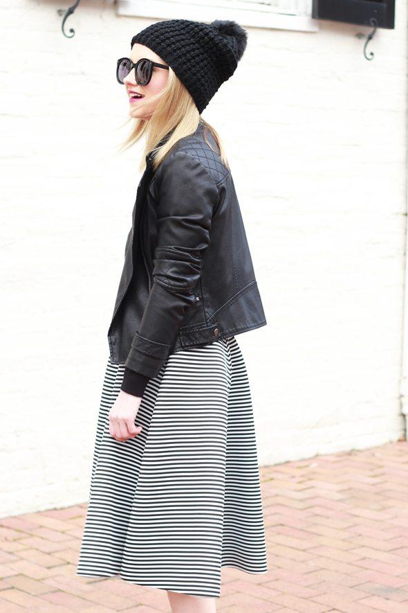 Poor Little It Girl - Black And White Stripes for Winter