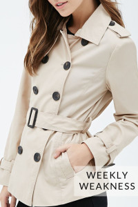 Poor Little It Girl - Weekly Weakness - Forever 21 Trench Coat