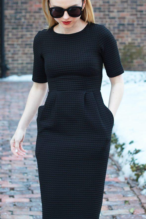 Poor Little It Girl - ASOS Little Black Wiggle Dress
