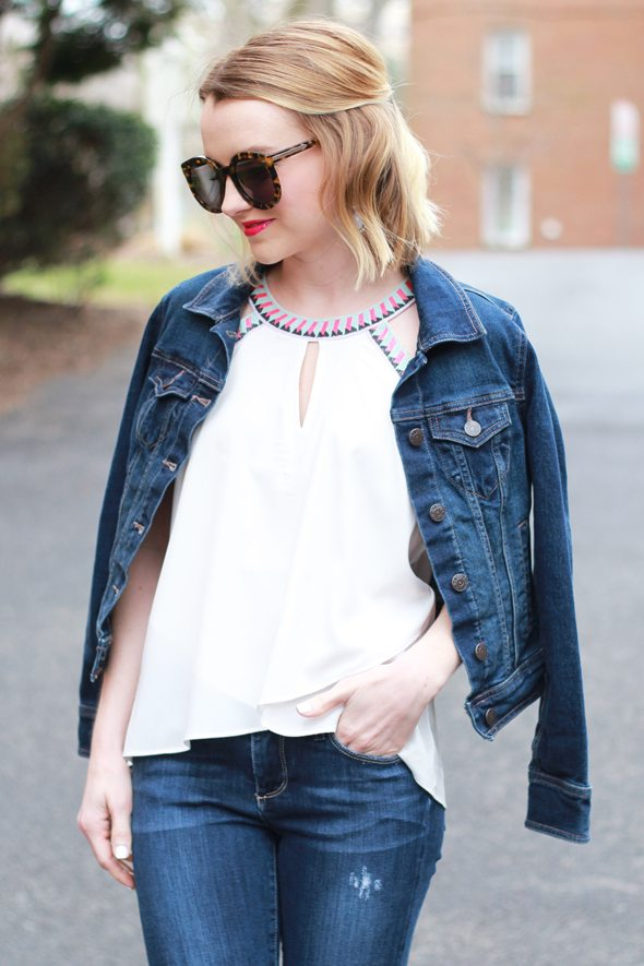 Denim on Denim for Spring - via @poorlilitgirl