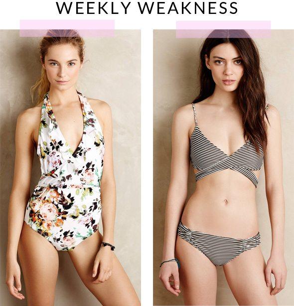 Weekly Weakness - Anthropologie Swimsuits - via @poorlilitgirl