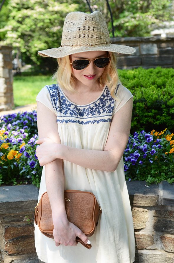 American Eagle Outfitters Embroidered Dress at @poorlilitgirl