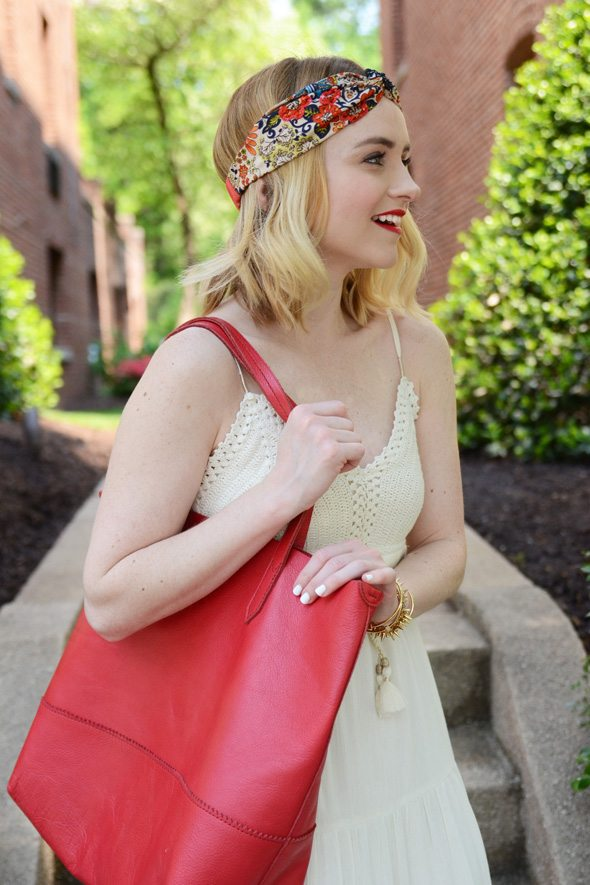 American Eagle Outfitters Ivory Maxi Dress - via @poorlilitgirl