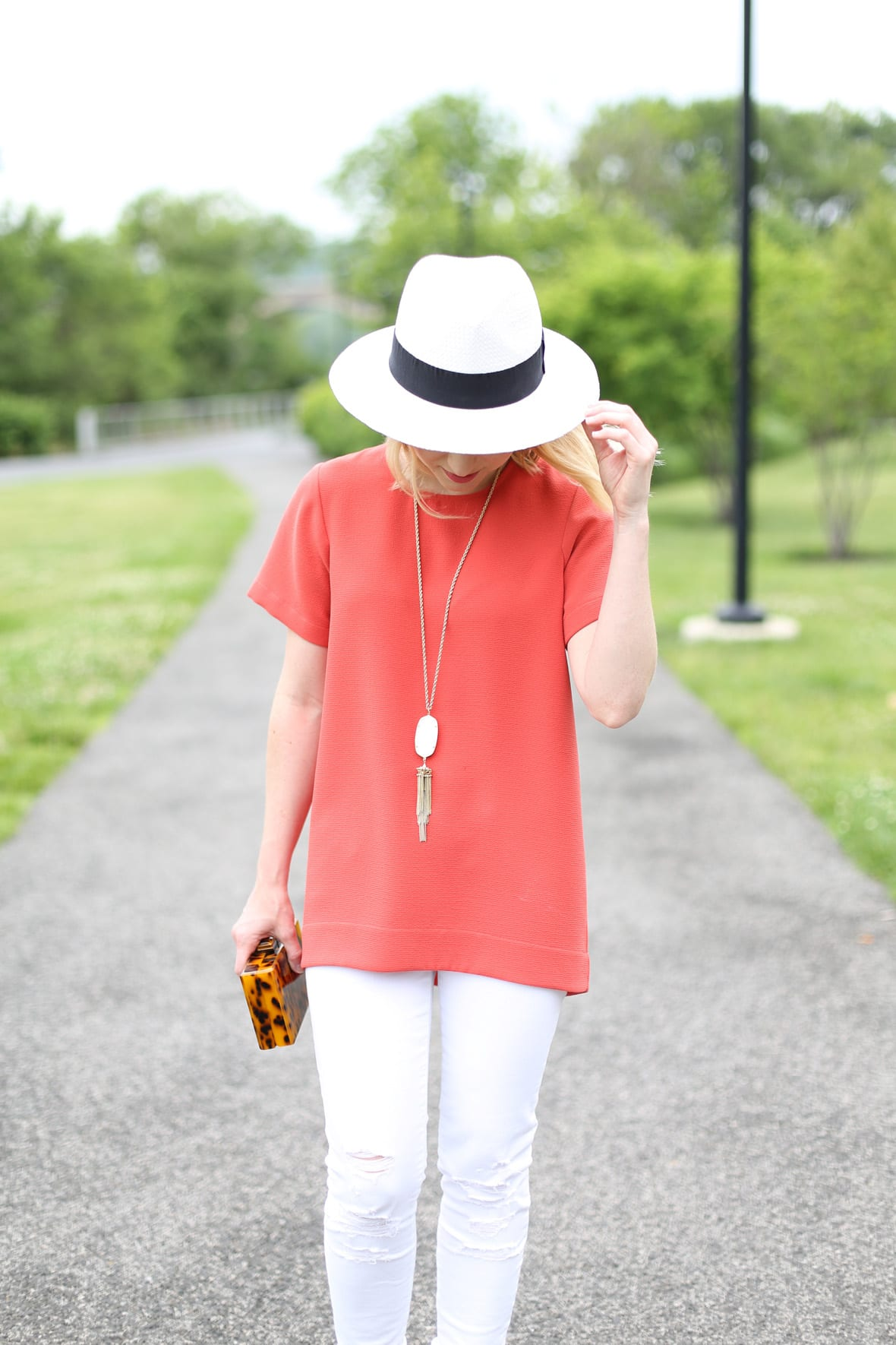 White Jeans for Spring - via @poorlilitgirl