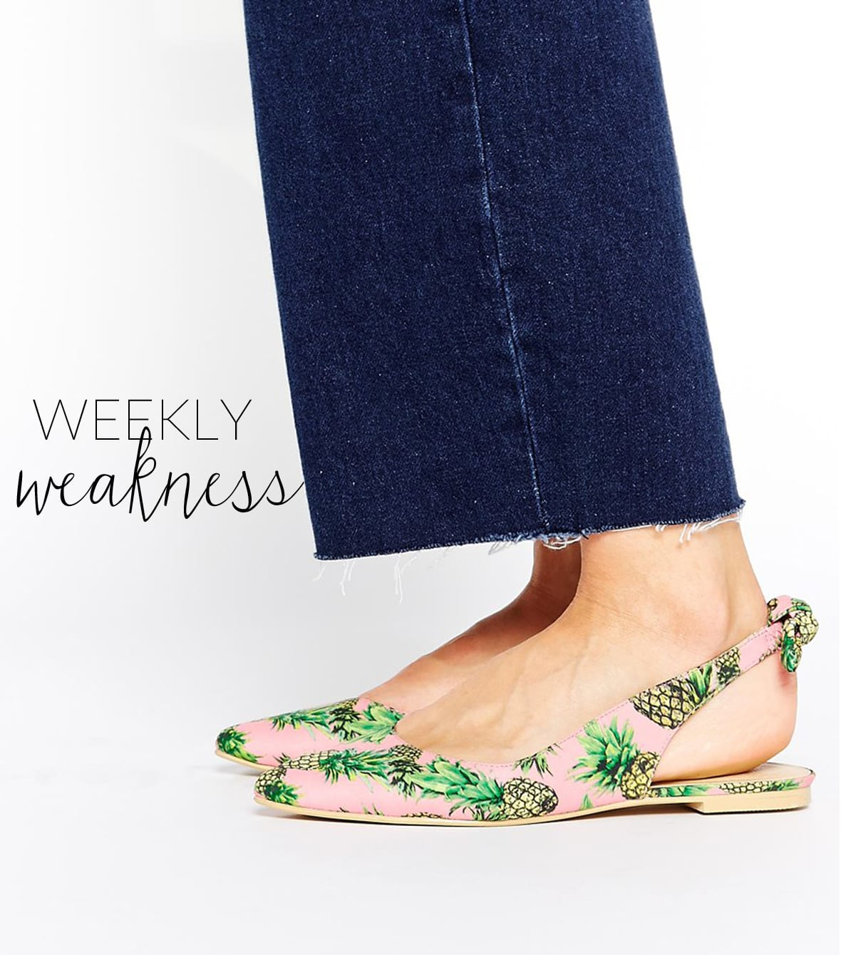 Poor Little It Girl Weekly Weakness - ASOS Pineapple Ballet Flats - @poorlilitgirl