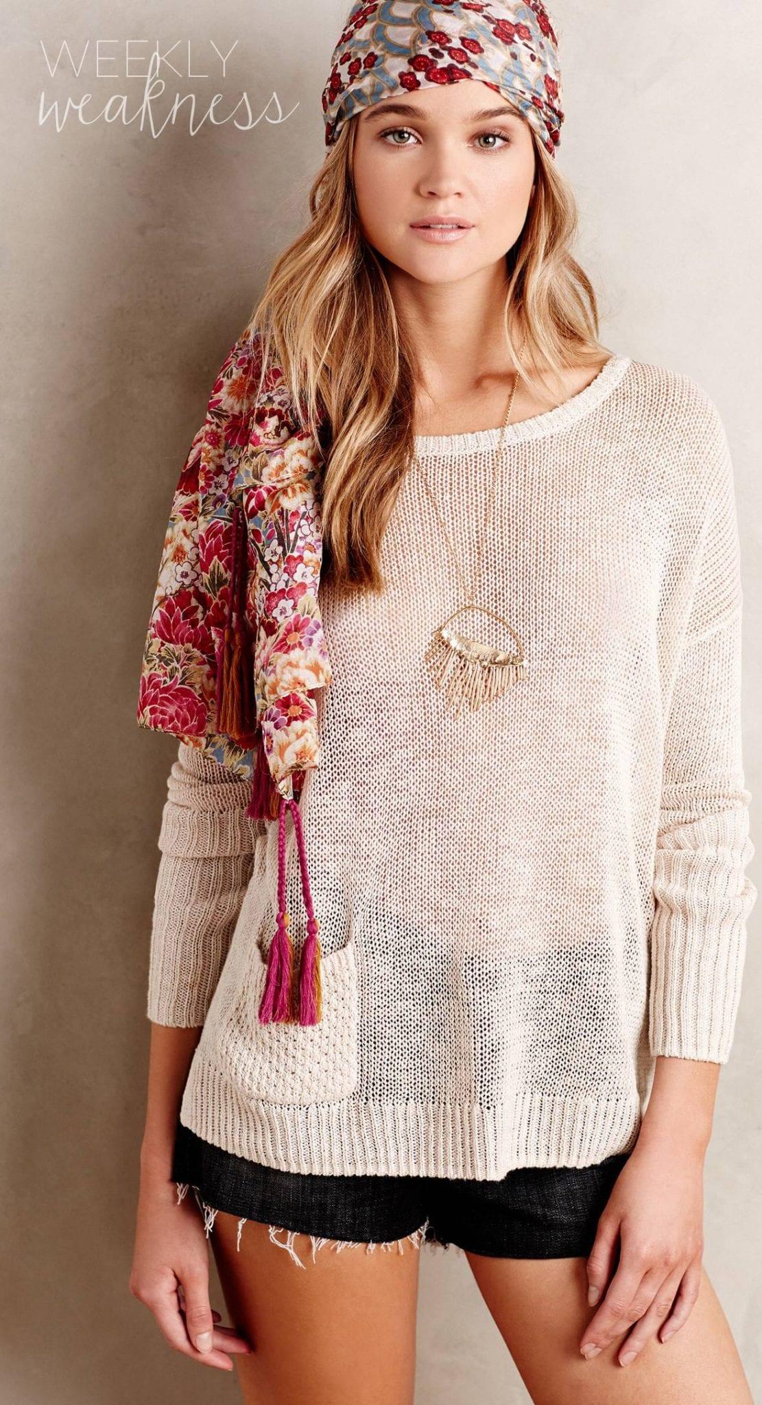 Poor Little It Girl Weekly Weakness - Anthropologie Sweater and Shorts - @poorlilitgirl