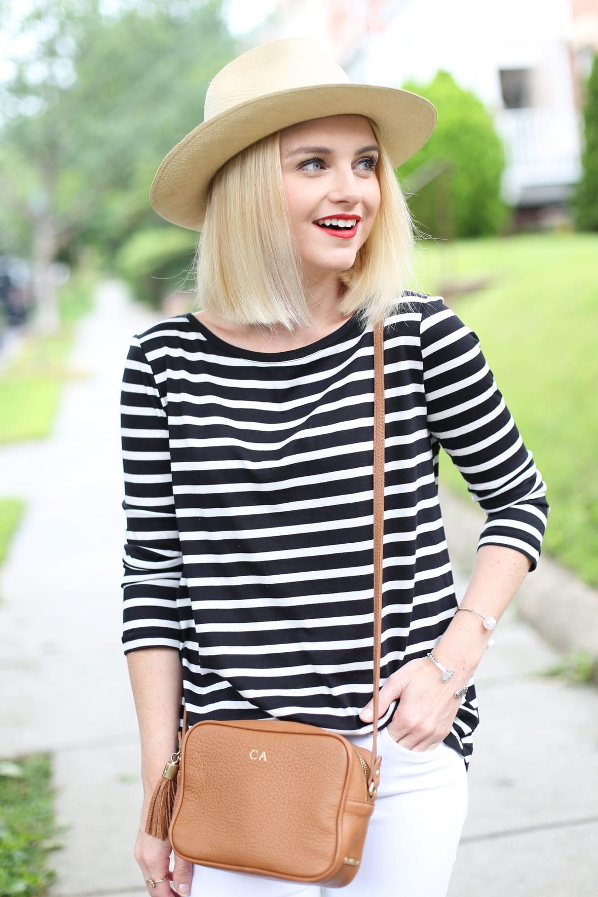 Black and White Striped Tee on Poor Little It Girl - via @poorlilitgirl