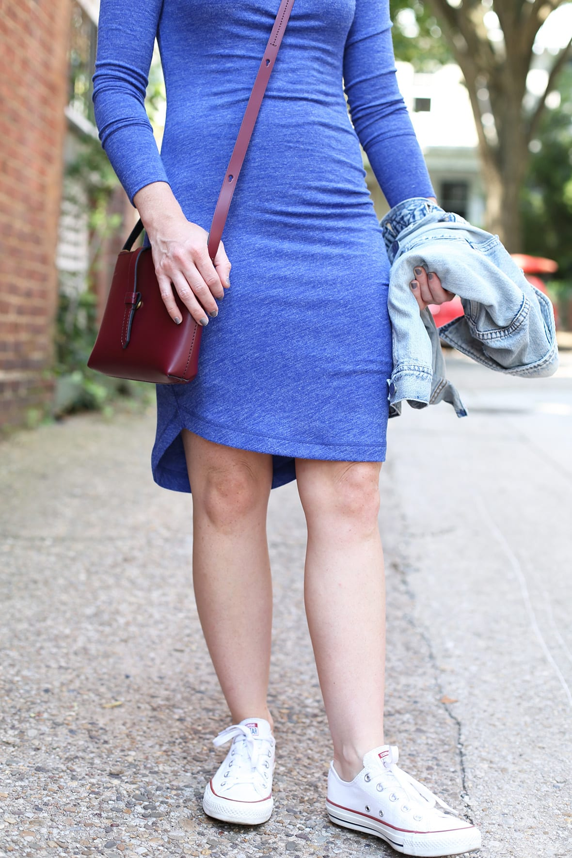 Poor Little It Girl - Blue Knit Dress @poorlilitgirl