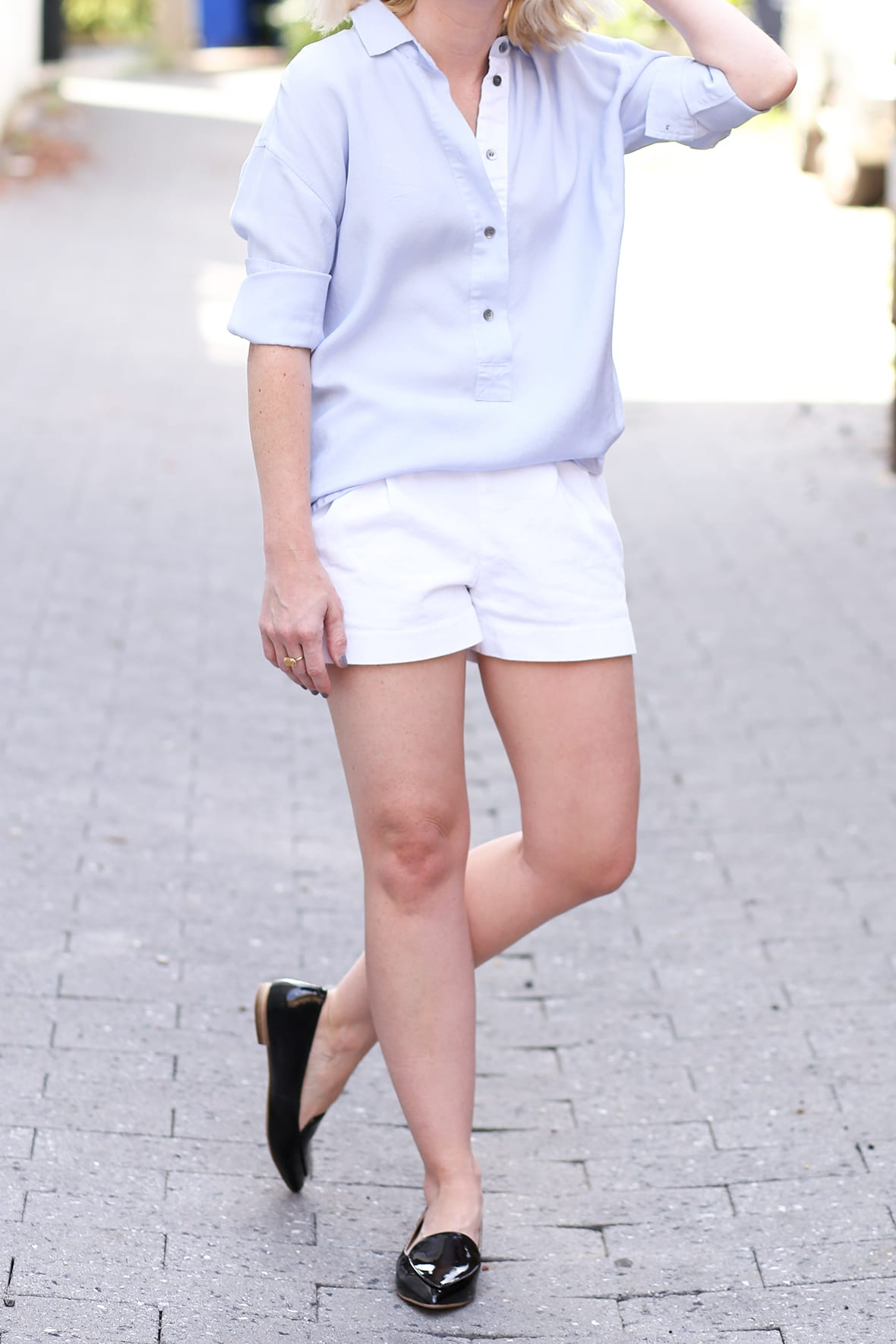 Poor Little It Girl - White Summer Shorts @poorlilitgirl