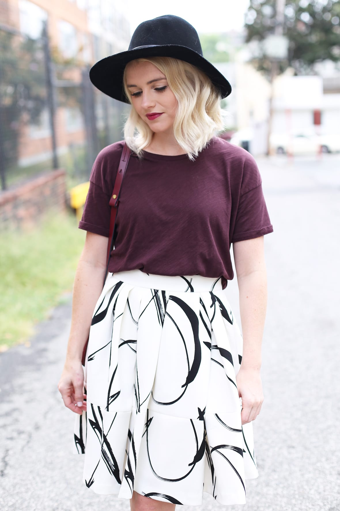 Poor Little It Girl - Black and White Skirt - @poorlilitgirl