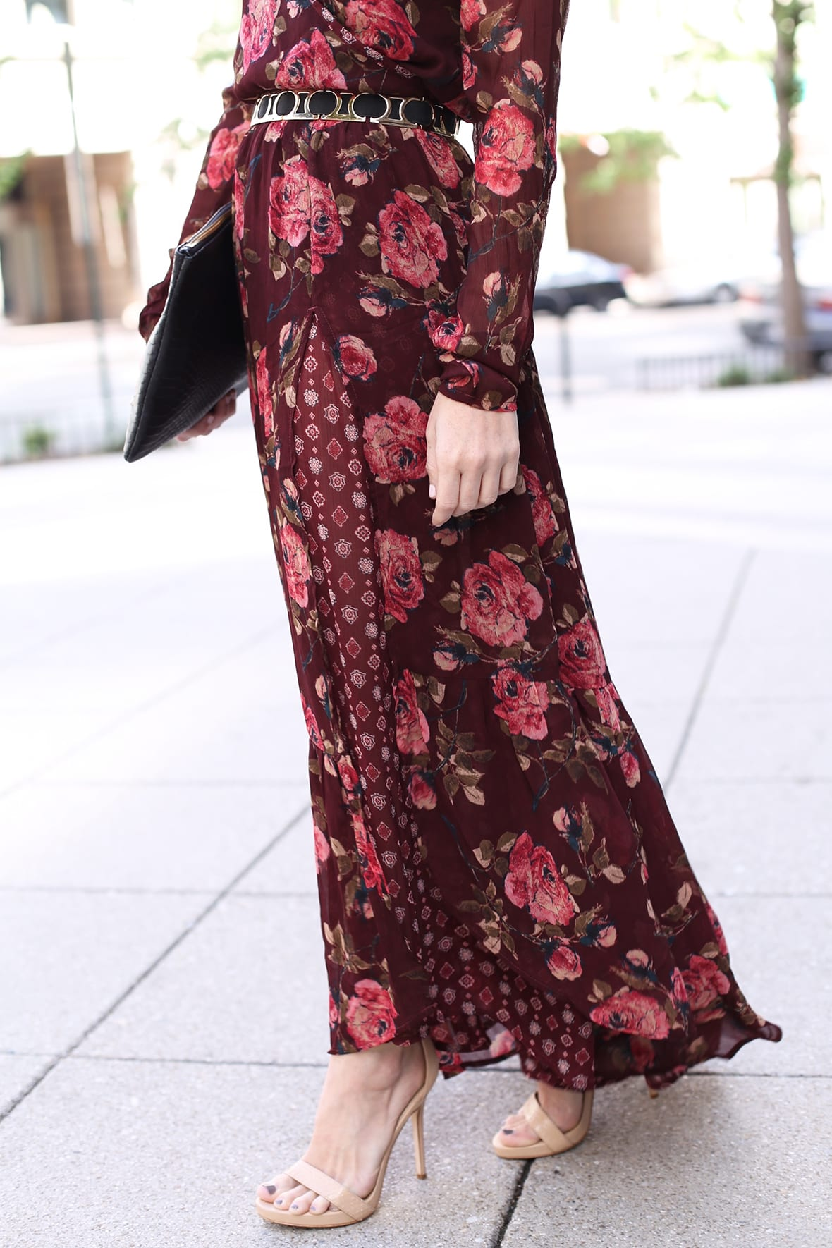 Fall Floral Long Sleeve Maxi Dress Poor Little It Girl