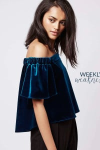 Poor Little It Girl Weekly Weakness - Topshop Velvet Bardot Top