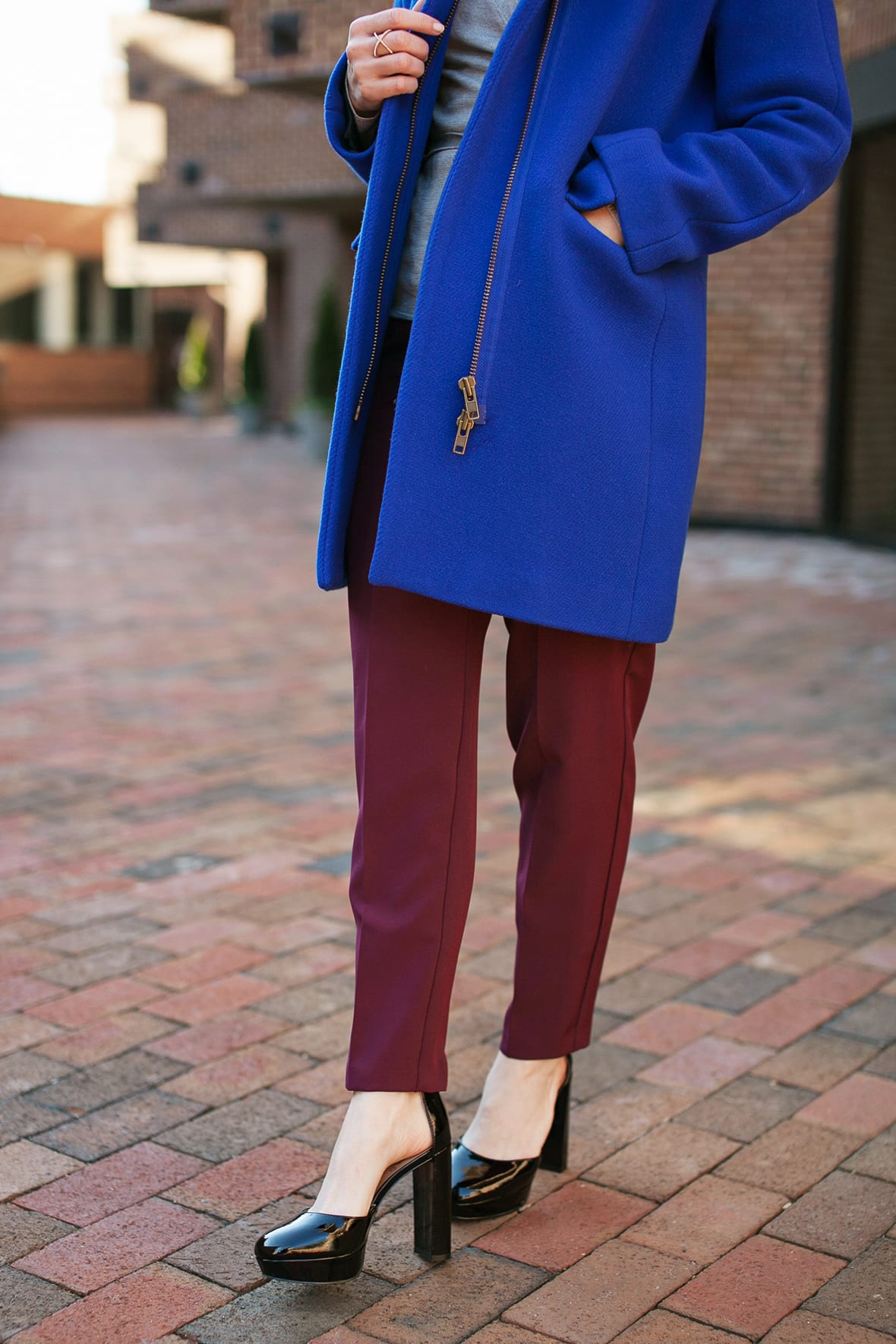 Poor Little It Girl - Blue Coat - @poorlilitgirl