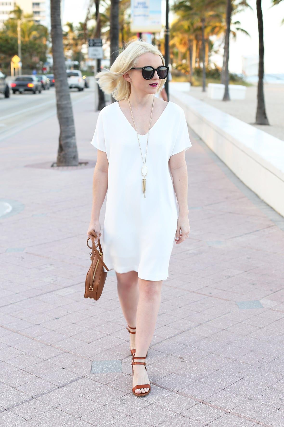 Poor Little It Girl - White Shift Dress - @poorlilitgirl
