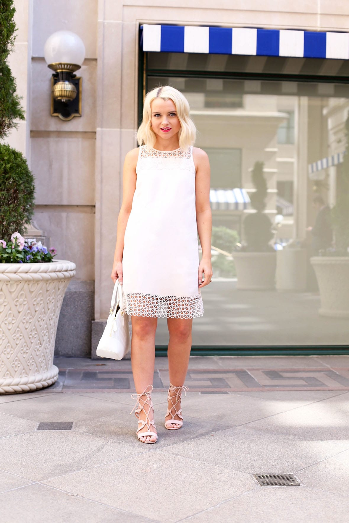 Poor Little It Girl - Lace Trim Pink Dress - @poorlilitgirl
