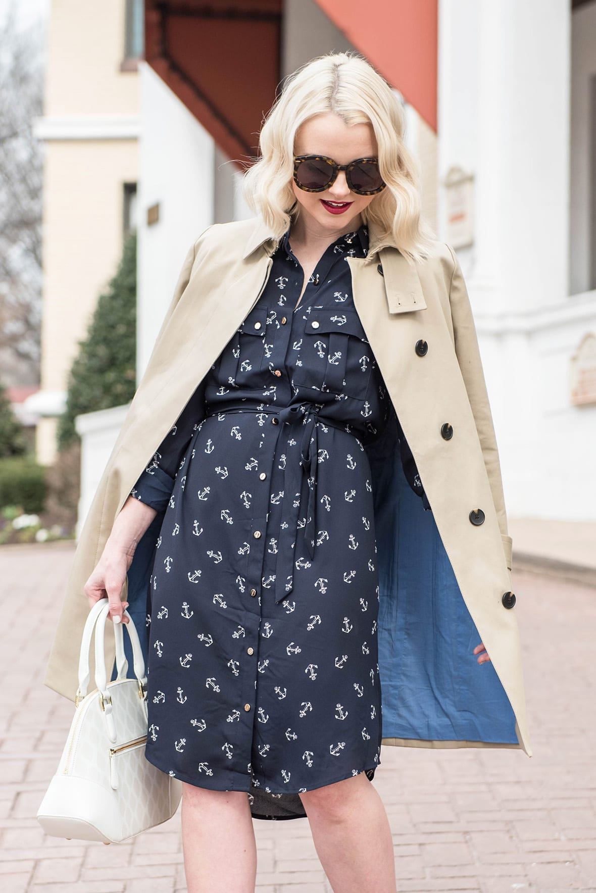 Poor Little It Girl - Anchor Print Dress - @poorlilitgirl