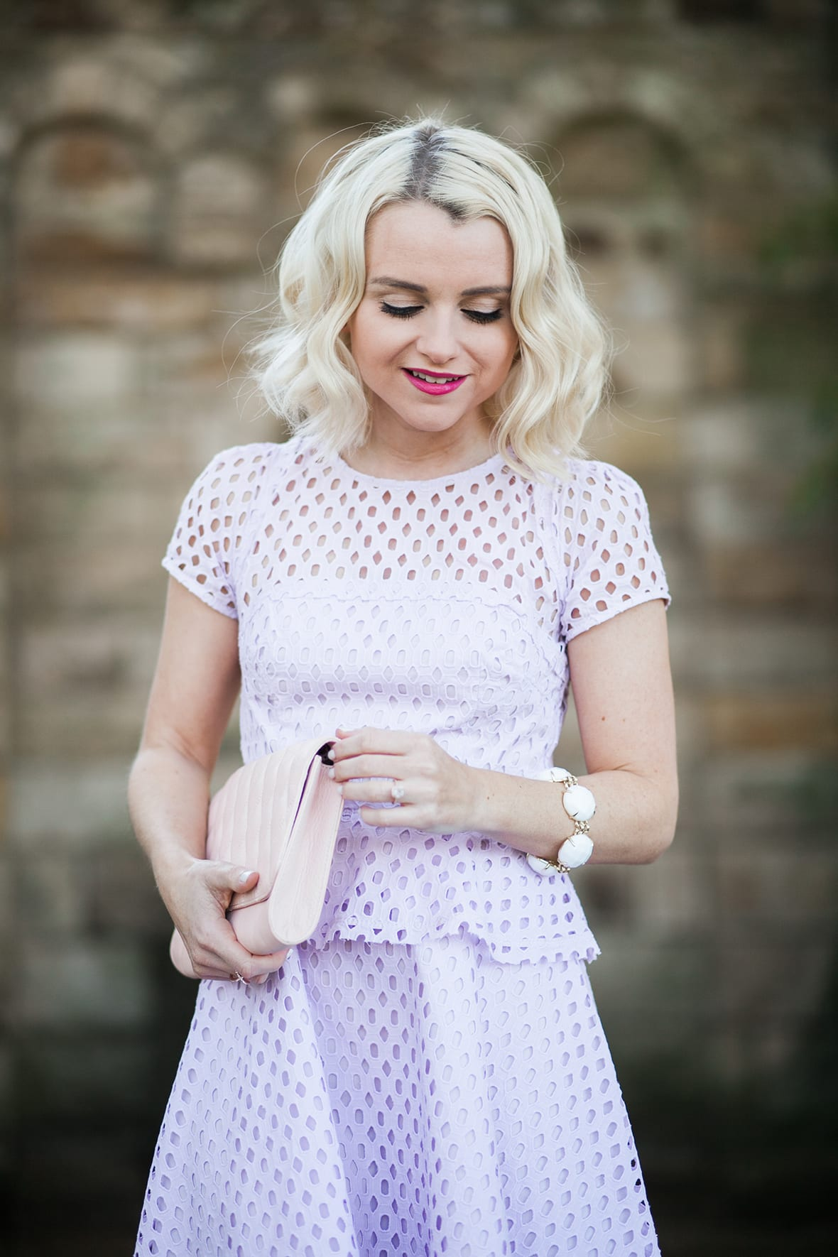 Poor Little It Girl - Purple Peplum Lace Dress - @poorlilitgirl
