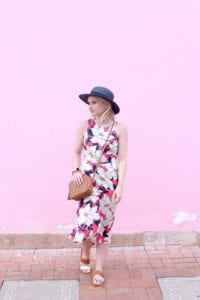 Poor Little It Girl - Floral Midi Dress - @poorlilitgirl